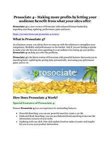Prosociate 4 review in detail – Prosociate 4 Massive bonus