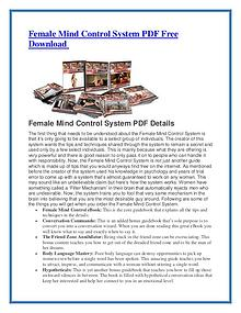 Female Mind Control PDF Free Download