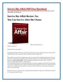 Survive Her Affair PDF Free Download