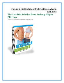 The Anti-Diet Solution PDF Free Download