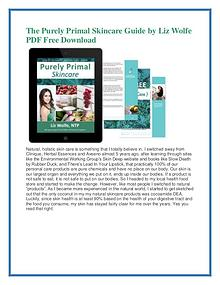 The Purely Primal Skincare Guide PDF FREE Download
