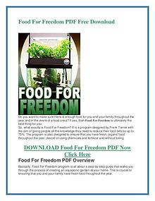 Food For Freedom PDF Free Download