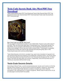 Tesla Code Secrets PDF Free Download