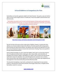 Is Feed Additives is Compulsory for Pets