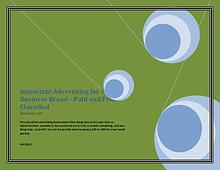Important Advertising for Your Business Brand – Paid and Free Classif