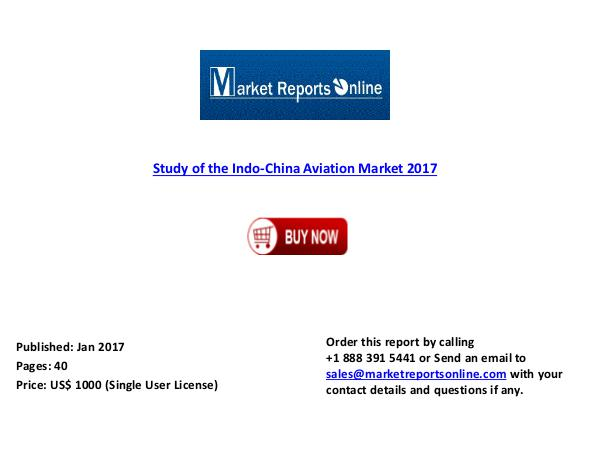 2017: Study of the Indo-China Aviation Market Jan 2017
