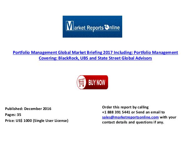 2017 Global Portfolio Management Market Briefing Dec 2016