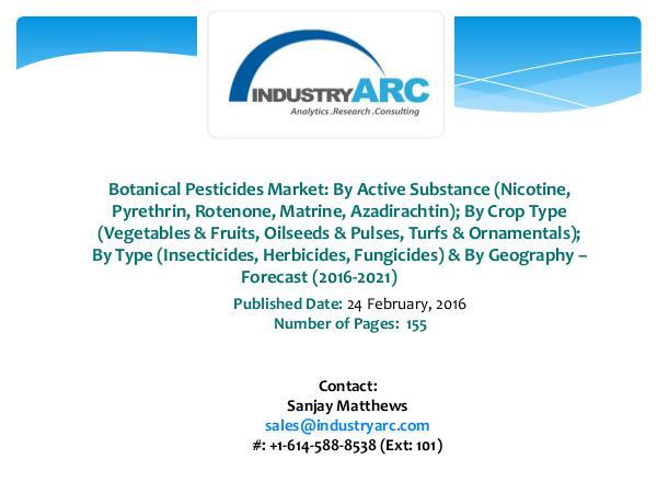Botanical Pesticides Market Boosted Development of 6 Bio-Pesticide Botanical Pesticides Market Expects CLSU Resear