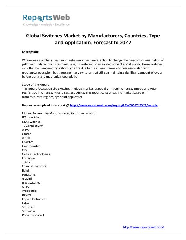 2017 Study - Global Switches Market