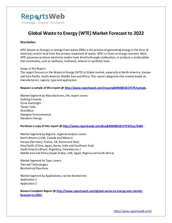 2017 Study - Global Waste to Energy Market