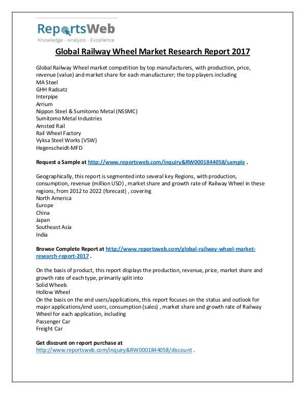 2017 Study - Global Railway Wheel Industry