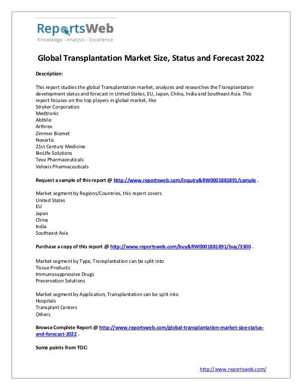 2017 Development of Transplantation Industry