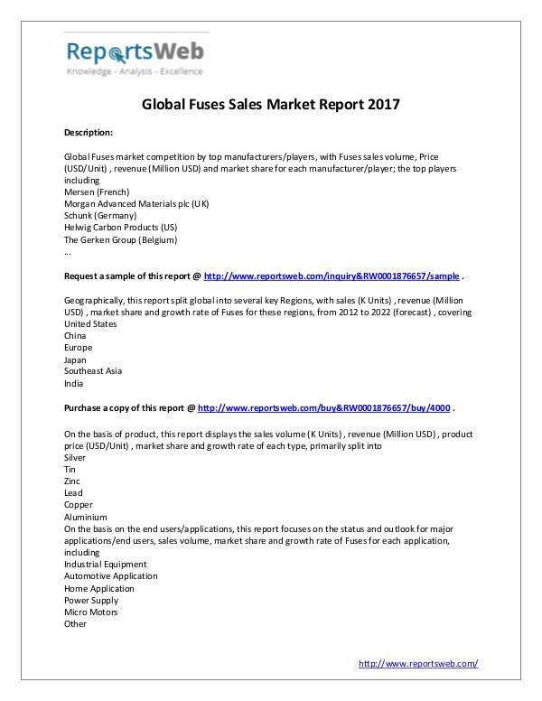 2017 Study - Global Fuses Market