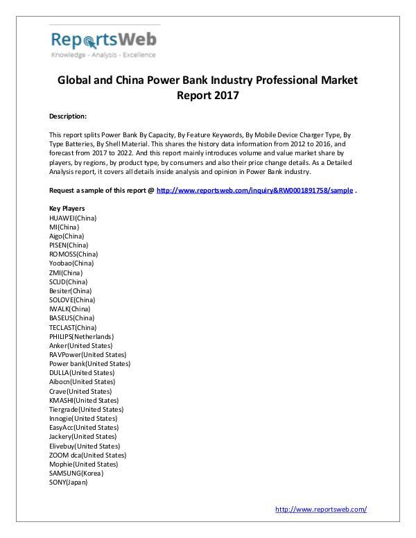 Power Bank Market Regional Forecast 2022