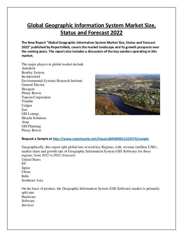 Market Analysis Geographic Information System Market 2017