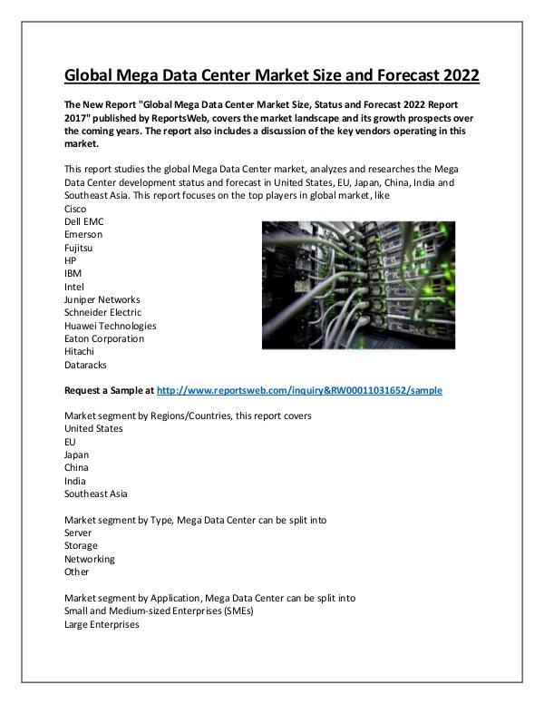 Mega Data Center Market 2021- Global SWOT Analysis