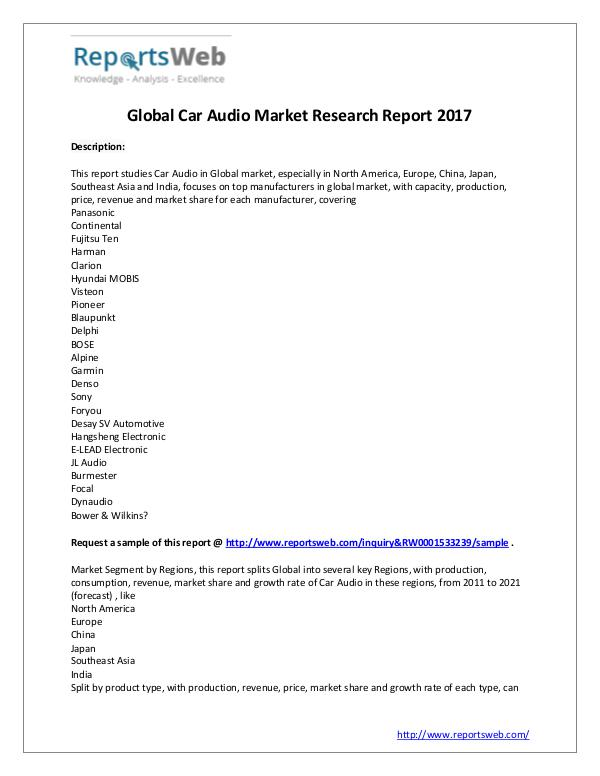 market research and analysis sample