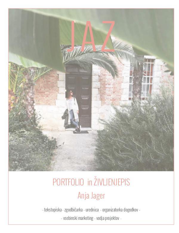 CV in PORTFOLIO / Anja Jager JAZ