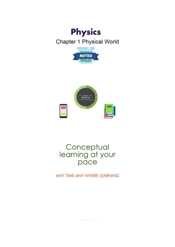 Physics Class 11 Chapter 1  Physical World | Joomag Newsstand