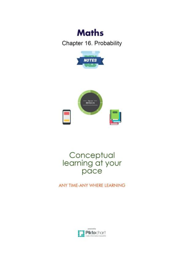 Maths Class 11 Chapter 16. Probability