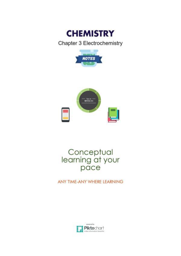 Chapter 3 Electrochemistry, Chemistry class 12 Chapter 3 Electrochemistry Chemistry, Class 12