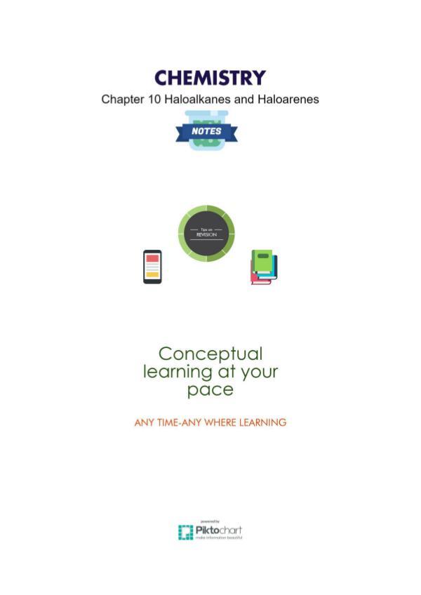 Chapter 10 Haloalkanes and Haloarenes, Class 12 Chemistry Chapter 10 Haloalkanes and Haloarenes class12 chem