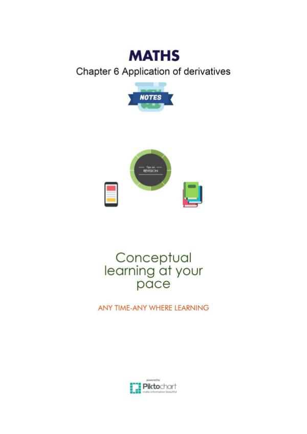 XII Maths Chapter 6. Application of Derivatives