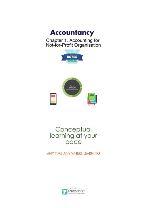 XII Accountancy 1. Accounting for Not-for-Profit Organisation