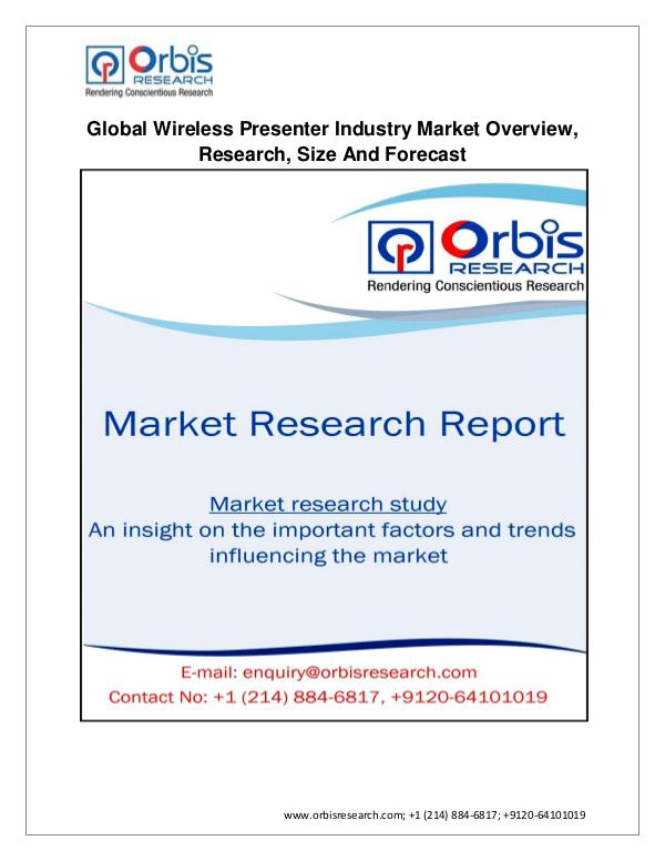 2017 Market Research Report on Global Wireless Presenter Industry Jan 2017