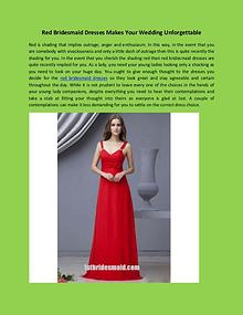 Red Bridesmaid Dresses Makes Your Wedding Unforgettable