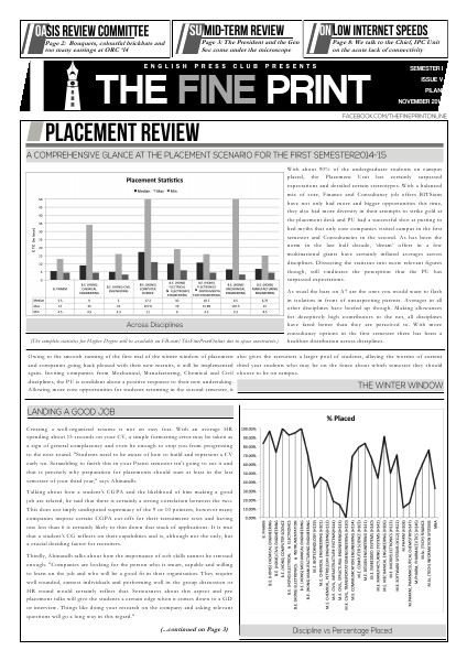 The Fine Print Issue Five, November 2014