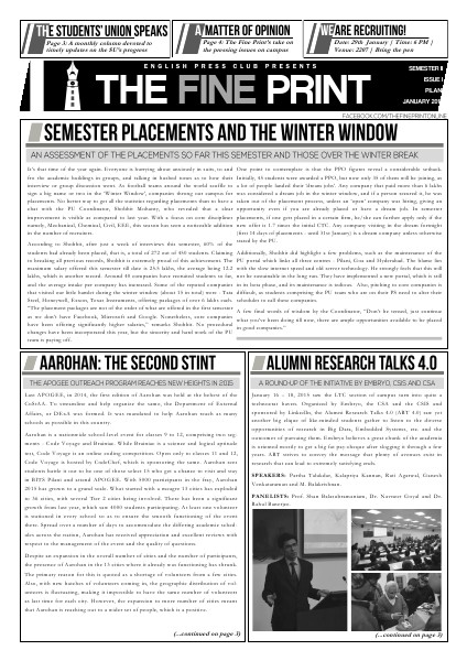 The Fine Print Issue One, January 2015