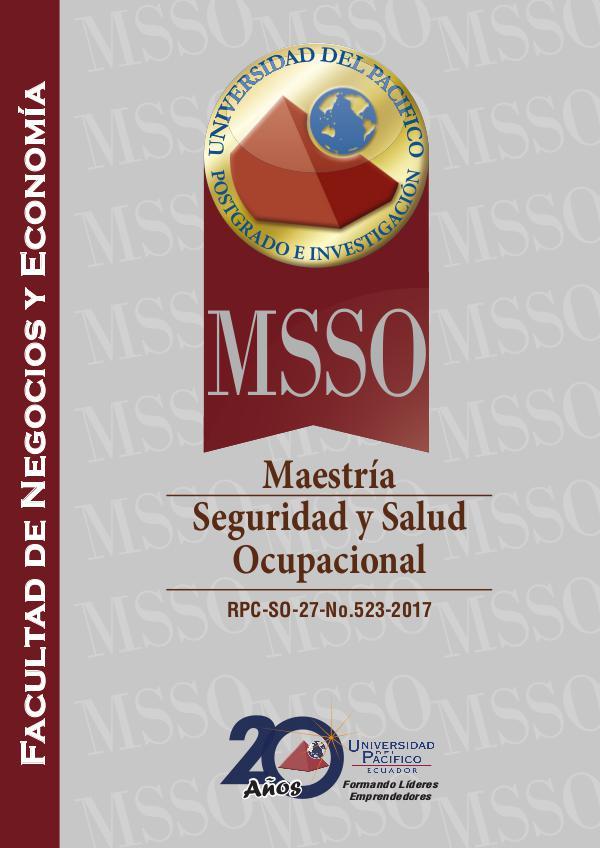 Seguridad y Salud Ocupacional - MSSO FOLLETO-MSSO-web-16102017