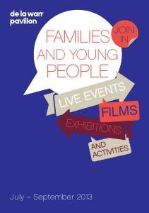 De La Warr Pavilion Summer Family Leaflet