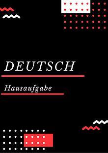 Deutsch Hausaufgabe