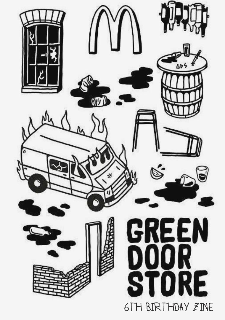 THE GREEN DOOR STORE 6TH BIRTHDAY ZINE 1