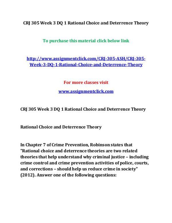 rational choice theory criminal justice