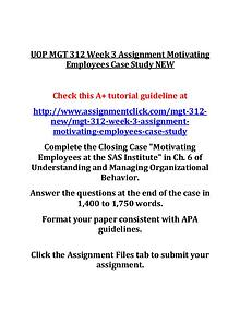 UOP MGT 312 Entire Course NEW