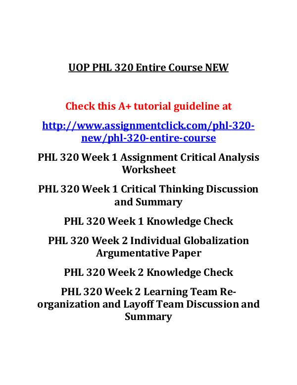 critical thinking discussion and summary phl/320