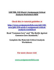 UOP GEN 201 Entire Course