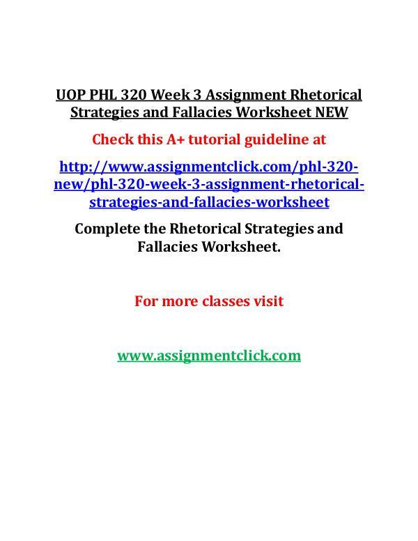 UOP GEN 201 Week 3 Individual Critical Thinking an
