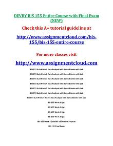Devry BIS 155 entire course