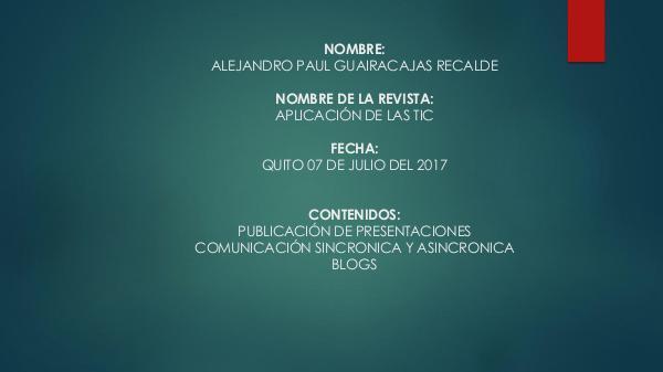 APLICACIÓN DE LAS TIC EP2A