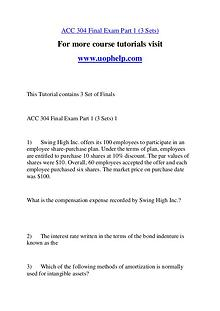 ACC 304 Endless Education /uophelp.com