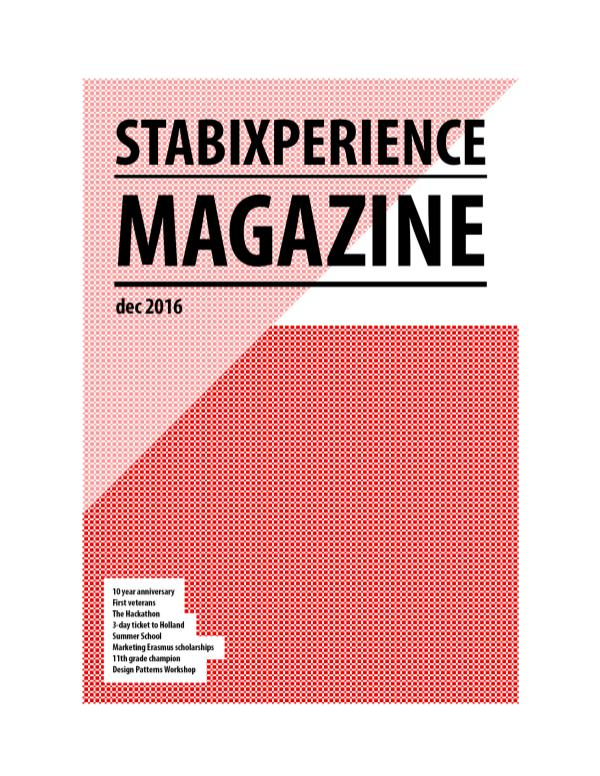 StabiXperience Magazine (dec 2016) StabiXperience Magazine (dec 2016)