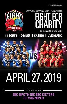 Fight For Charity Event Program