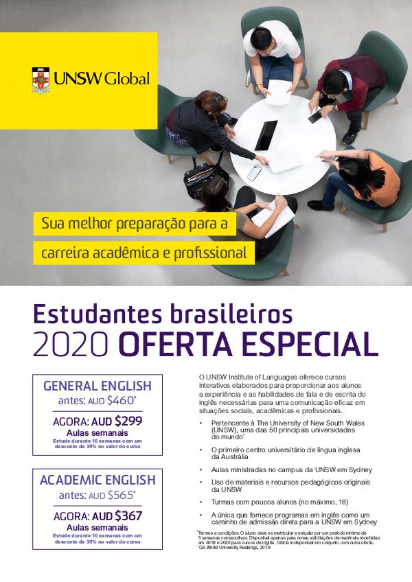 UNSW Global Latin American 2020 Special Offer Portuguese