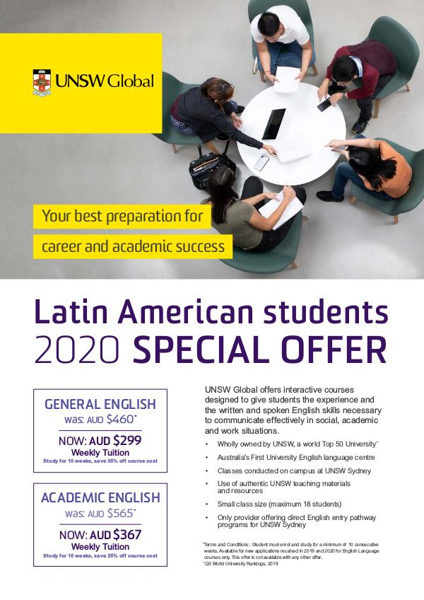 UNSW Global Latin American 2020 Special Offer English
