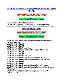 BSHS 305 MASTER Career Begins/bshs305master.com