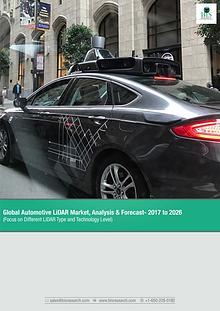 Global Automotive LiDAR Market Forecast 2017-2026